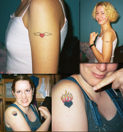 ooh! hey, look, it's tattoos part three! my sister katheryne and i got devil