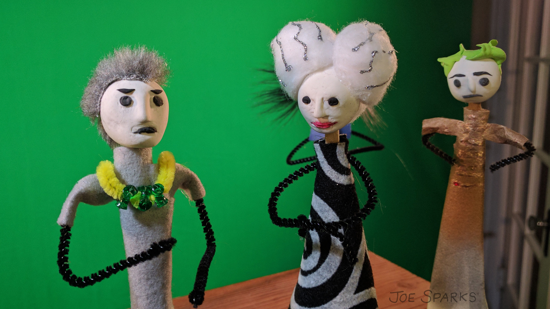 handmade puppets for video animation