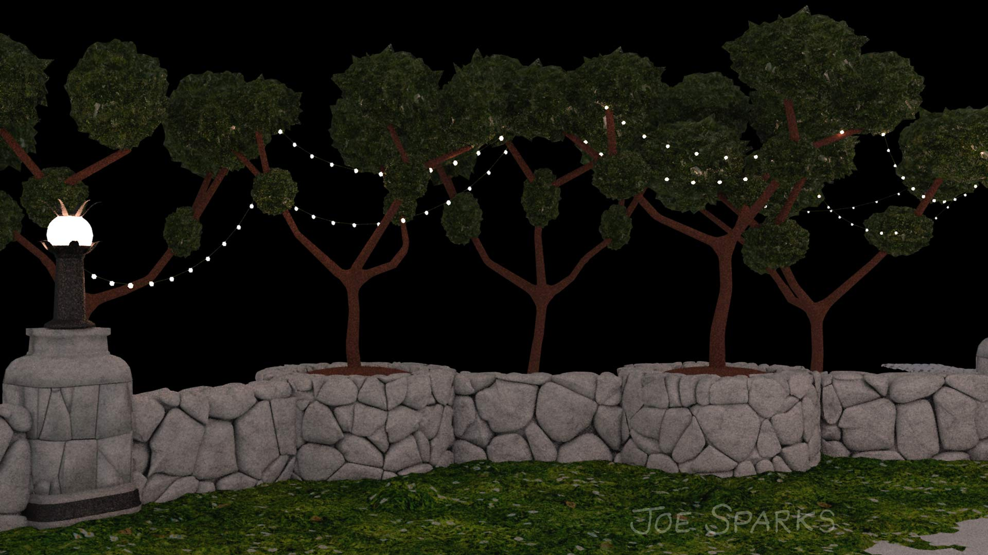 trees in Blender 3D