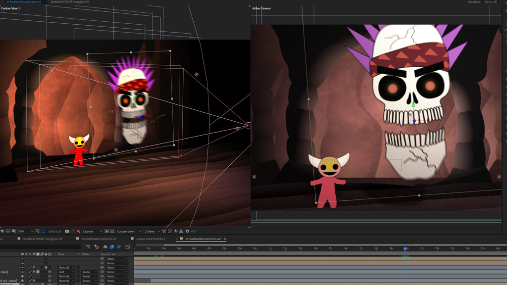 Radiskull and Devil Doll AfterEffects 3